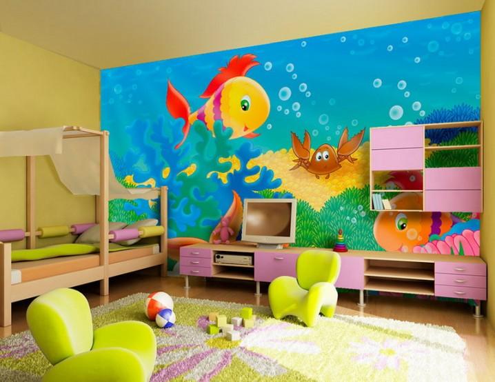 ديكورات غرف نوم اطفال ملونه 11