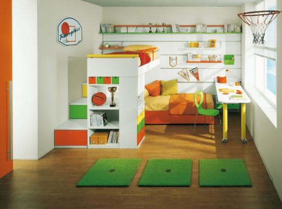 ديكورات غرف نوم اطفال ملونه 12