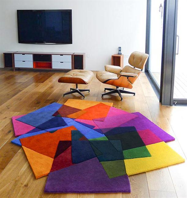 سجاد ملون لغرف الجلوس باشكال رائعة