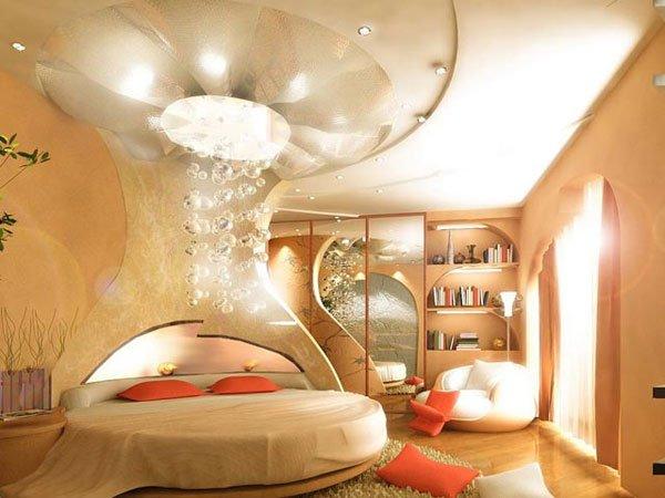 غرف نوم مودرن سرير دائري 10