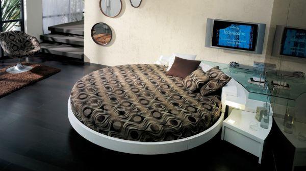 غرف نوم مودرن سرير دائري 11