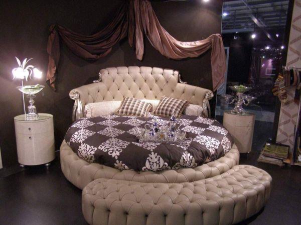 غرف نوم مودرن سرير دائري 3