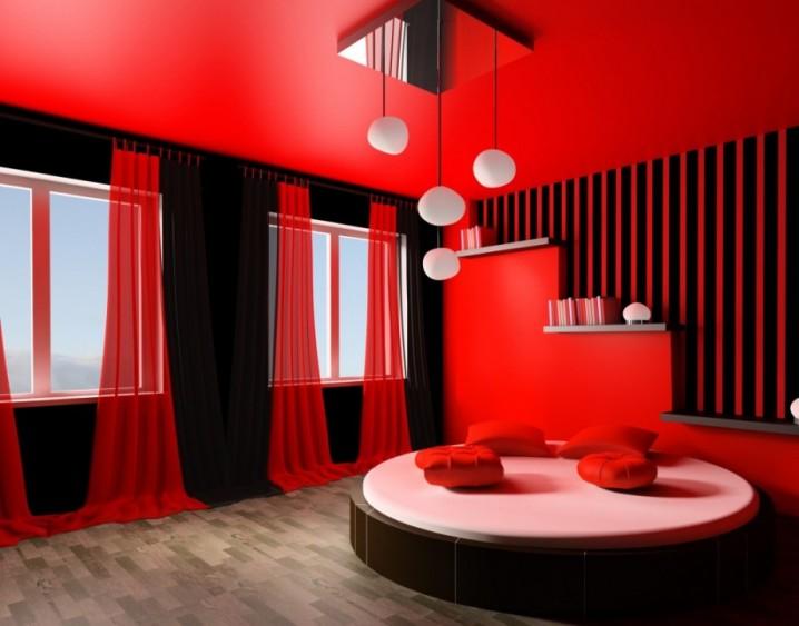 غرف نوم مودرن سرير دائري 4