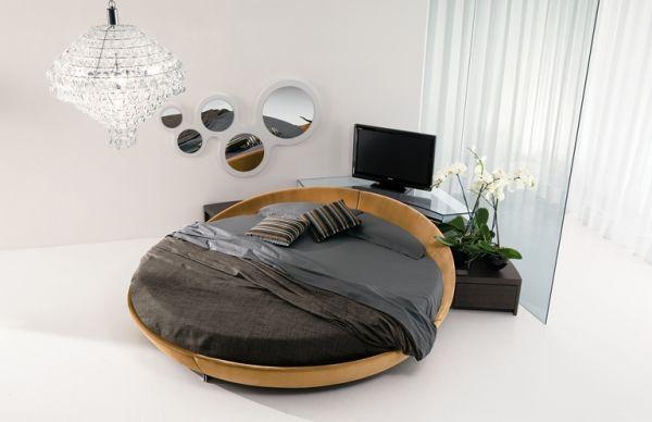 غرف نوم مودرن سرير دائري 8