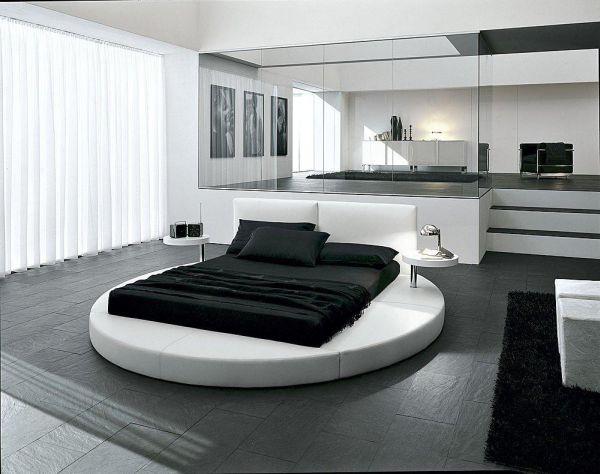 غرف نوم مودرن سرير دائري 9