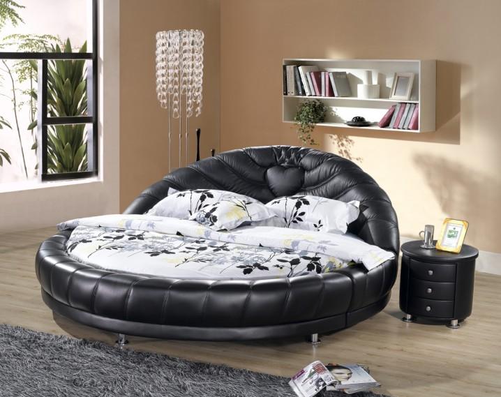 غرف نوم مودرن مع سرير دائري (2)
