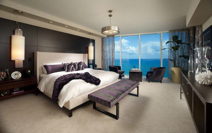 تصاميم غرف نوم مع إطلالة