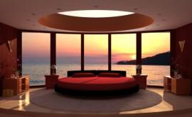 ديكورات غرف نوم مع إطلالة خلابة جميلة