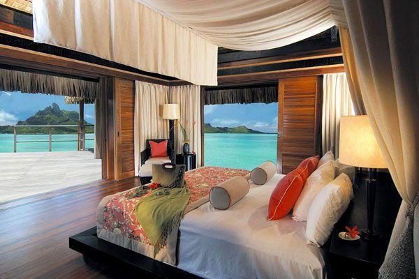 اجمل اطلالات غرف النوم على البحر