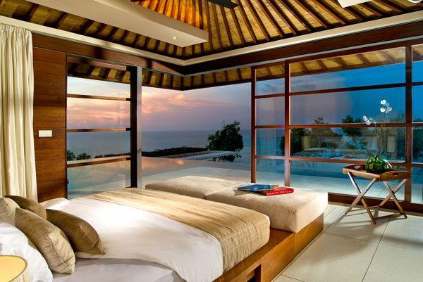 ديكورات غرف نوم مع إطلالة