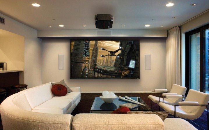 تصاميم لصالات سينما منزلية