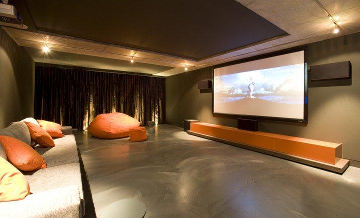تصاميم قاعات سينما منزلية