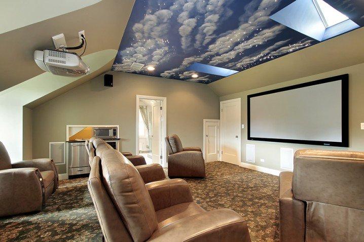 تصاميم مبتكرة لصالة سينما منزلية