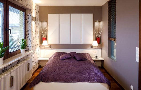 تصاميم غرف نوم صغيرة المساحة 8