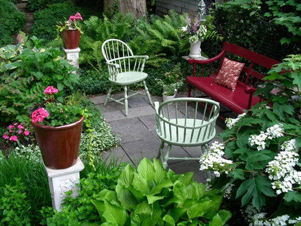 for Garden designs seating areas