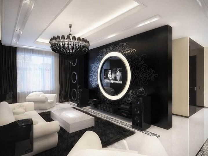 ثريات غرف جلوس باللون القريب الى الأسود