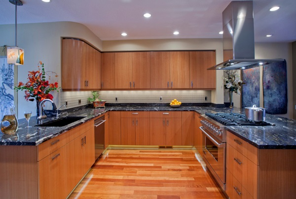 مطبخ خشبي حرف يو