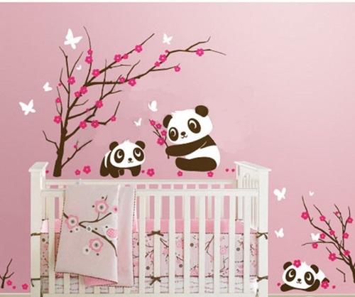 ملصقات الحائط لغرف الأطفال البنات