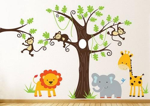 ملصقات حائط كرتونية لغرف الأطفال