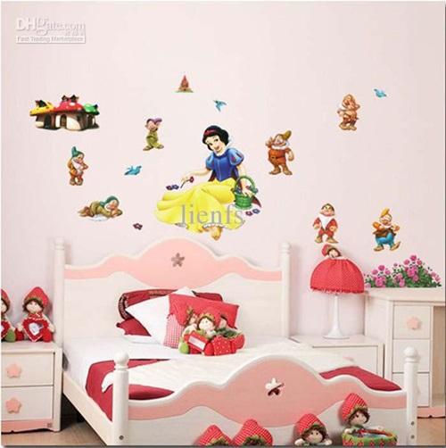 ملصقات كرتونية لغرف نوم البنات