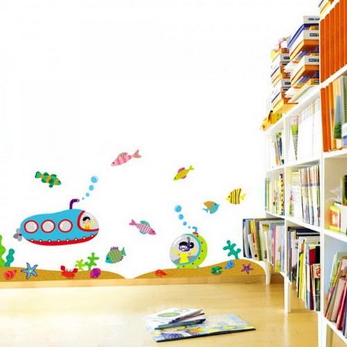 ملصقات حائط أنيقة لغرف الأطفال
