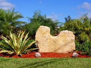 تنسيق الصخور في الحدائق
