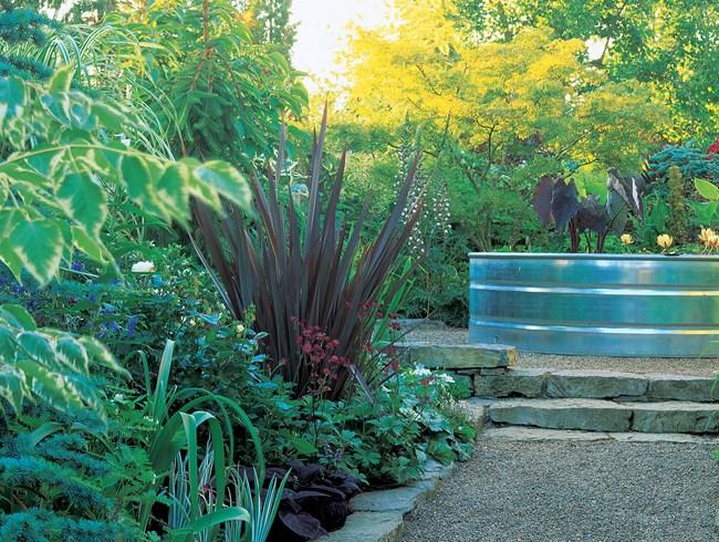 تنسيق حديقة منزل صغيرة