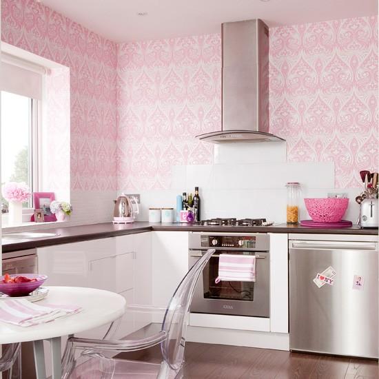 ألوان زاهية لورق الجدران لمطبخك