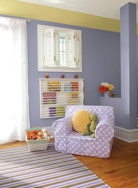 احدث الوان الدهانات لغرف الاطفال باللون الأرجواني