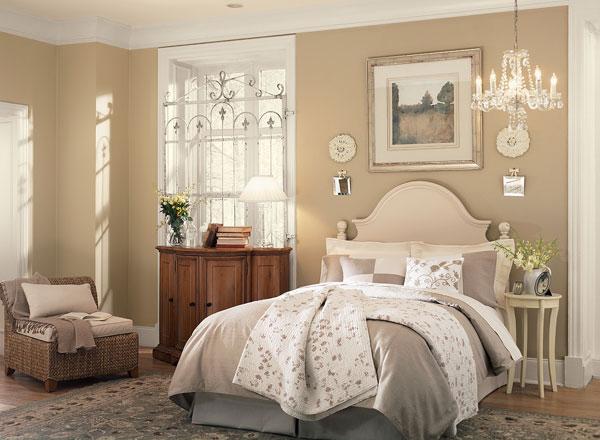 احدث الوان الدهانات لغرف النوم باللون البيج