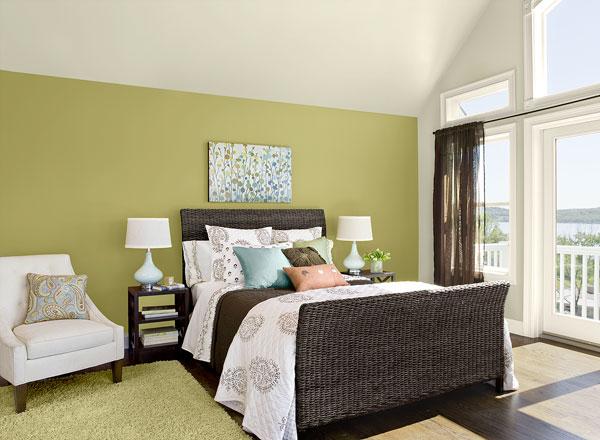 احدث الوان الدهانات لغرف النوم باللون الزيتي