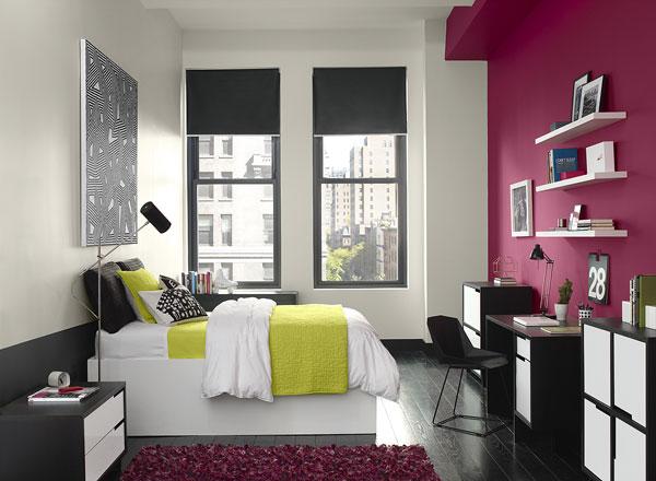 احدث الوان الدهانات لغرف النوم باللون الفوشي