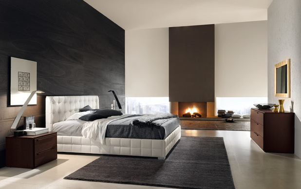 احدث الوان غرف النوم باللون الابيض والبني