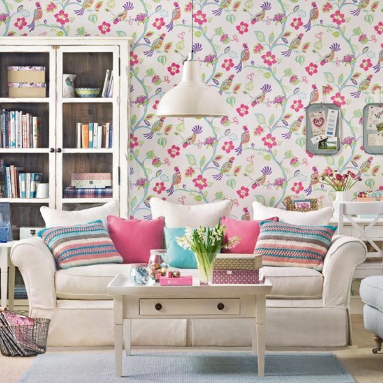 اشكال ورق جدران لغرف المعيشة