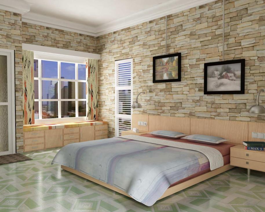 اشكال ورق جدران لغرف النوم