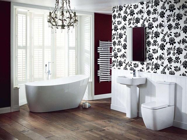اشكال ورق جدران للحمامات