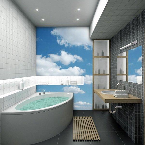 اشكال ورق حائط للحمام