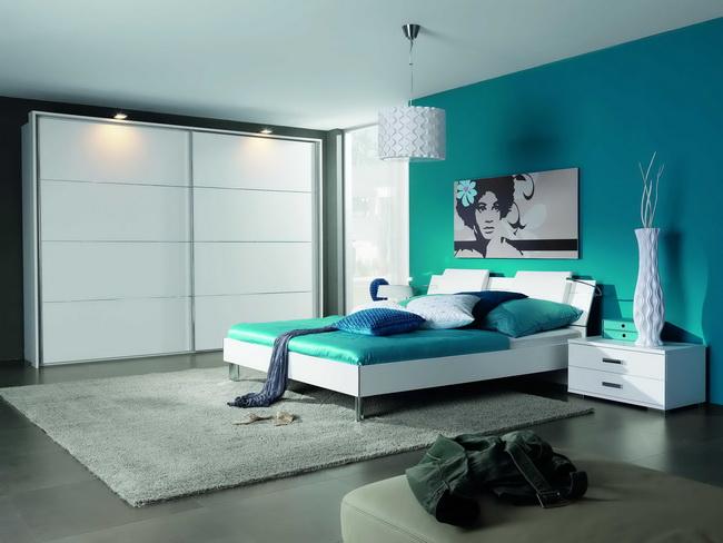 احدث الوان حوائط غرف النوم