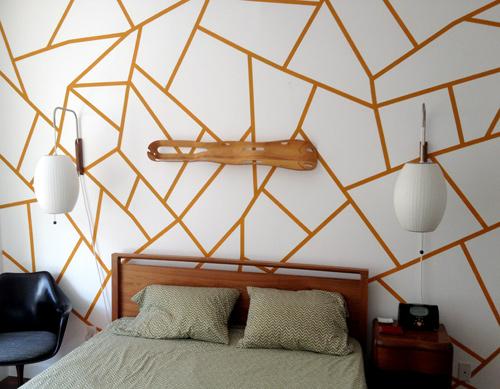 تزيين غرف نوم المنزل باشكال هندسية بسيطة