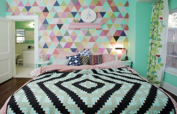 تزيين منزلك باشياء بسيطة ورق جدران غرف نوم