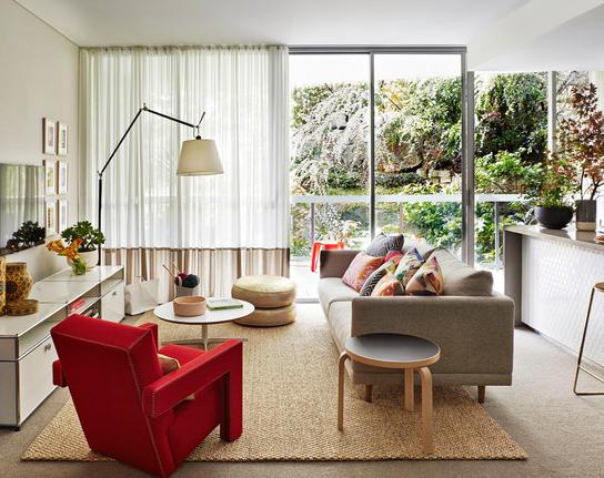 تصميم غرفة معيشة صغيرة