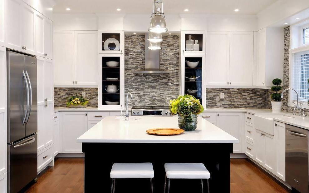 ديكورات حوائط حجر للمطبخ