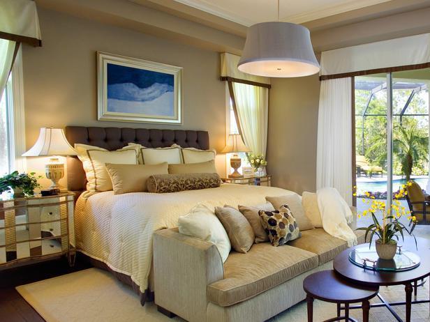 ديكور غرفة النوم بألوان دافئة