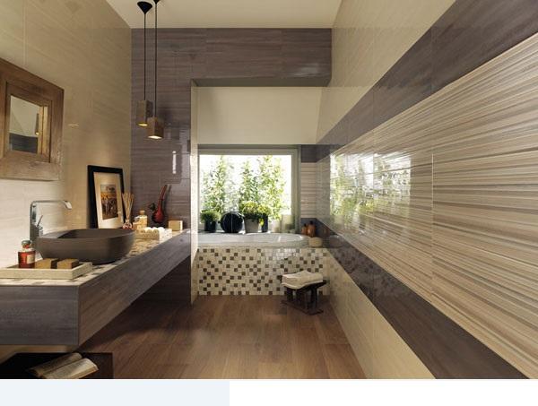 سيراميك حمامات مخططة بخطوط افقية