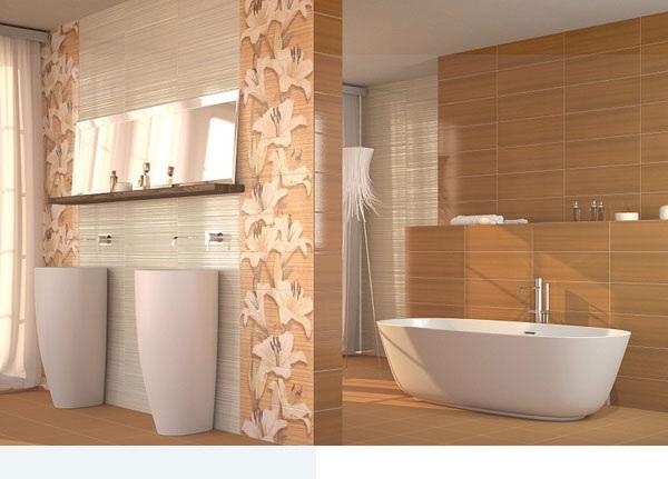 سيراميك حمام بنقوش كبيرة لزهور