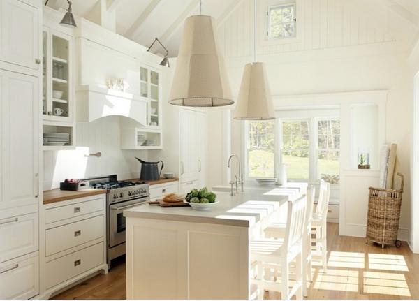شكل مطبخ عصري باللون الأبيض
