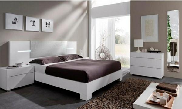 غرف النوم باللون الابيض