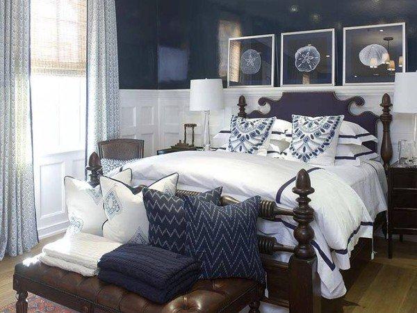 فكرة لتصميم غرفة نوم رئيسية دافئة ومريحة صغيرة
