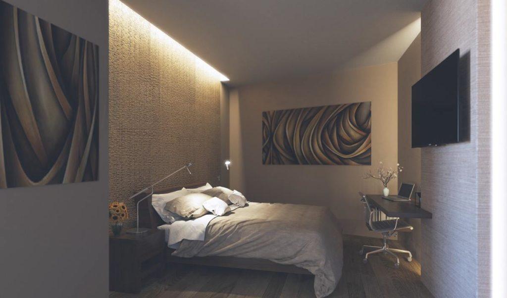اضاءة غرف نوم مودرن