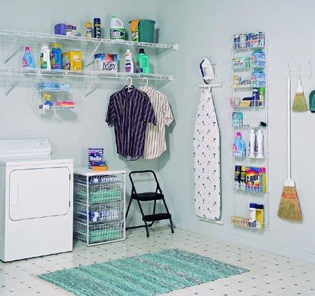 افكار ترتيب ادوات التنظيف بمطبخك